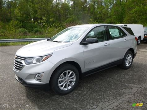 silver ls with white shades 2018 silver ice metallic chevrolet equinox ls awd
