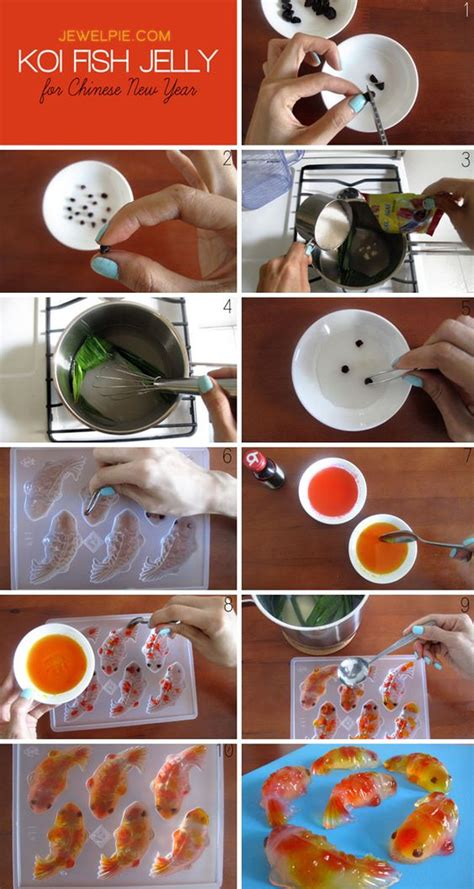how to cook new year fish photo tutorial on how to make koi fish jelly further