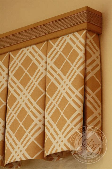 curtain box valance custom drapery designs llc trim hardware details