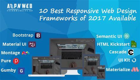 10 best responsive web design frameworks of 2017 available