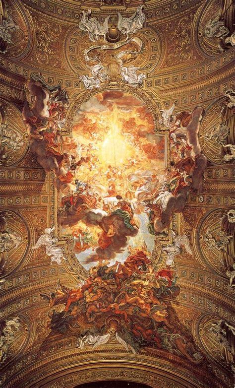 fresco baroque baciccia batista gaulli triumph of the name