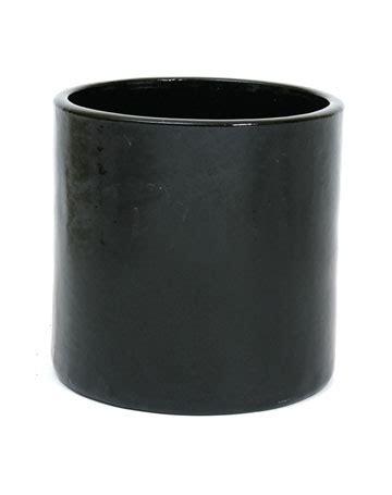 Standing Planter Tinggi 30cm Diameter 20cm apta black cylinder