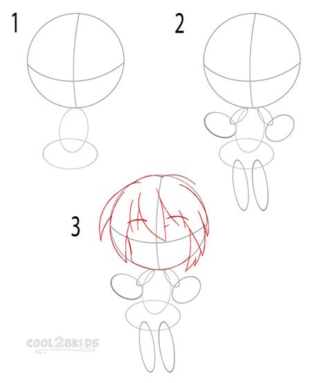 How to draw a chibi girl step by step easy nail
