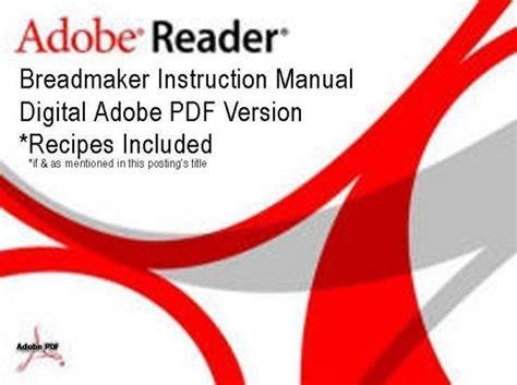 Auto Bakery Bread Machine Sunbeam Breadmaker Parts Model 5842 Instruction Manual