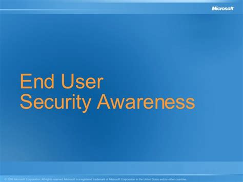 end user plan template end user security awareness presentation