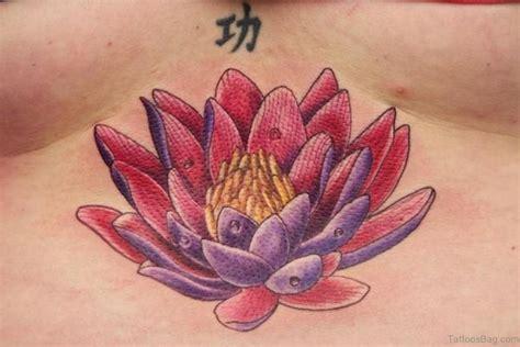 lotus tattoo sternum 50 beautiful lotus tattoos on chest