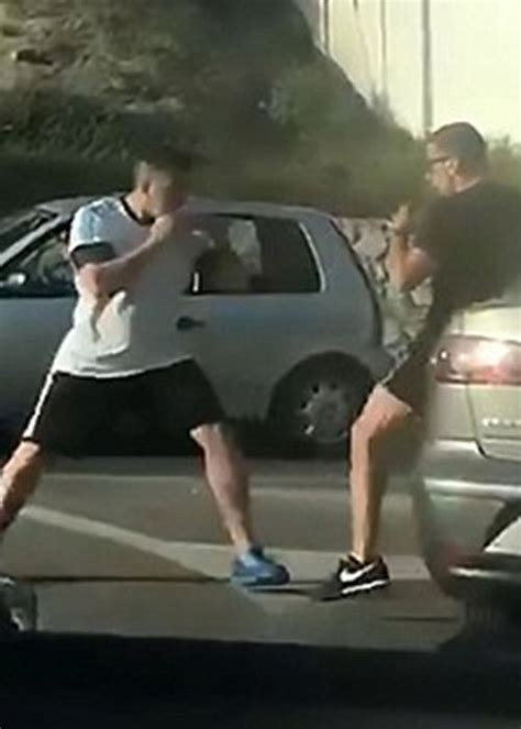 Rage Fight Angry Drivers Brawl In Cringeworthy Martial Arts Road Rage Fight