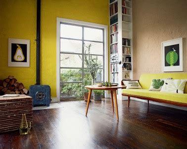peinture salon gris et jaune