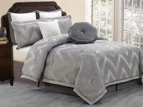 behrakis 8pc comforter set grey 2 sizes
