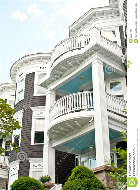 Two Story Townhouse Floor Plans three floor nice houses facades royalty free stock