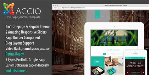 Accio One Page Parallax Responsive Joomla Template 3 X Free Download Free After Effects Joomla One Page Template Free
