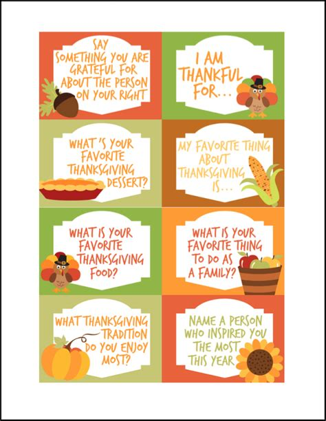 Printable Conversation Cards Template by Thanksgiving Conversation Starters Free Printables Oh My