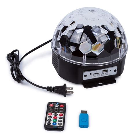 Led Magic Light Support Mp3 Lu Disco Ruangan 12w bluetooth voice led magic stage l colorful mp3 disco with remote controller
