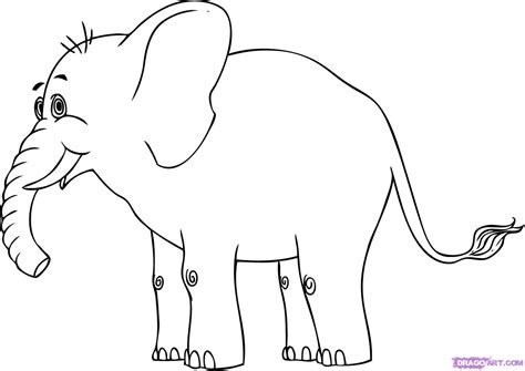 how to draw a doodle elephant draw a elephant step by step drawing sheets
