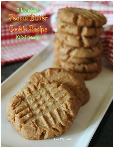 Peanut Butter Cokkies Ketofy 3 ingredient keto peanut butter cookies recipe isavea2z