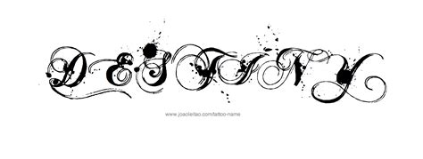 destiny tattoo designs destiny name designs