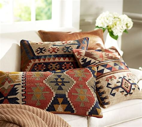 pottery barn bed pillows shelton kilim pillow cover pottery barn