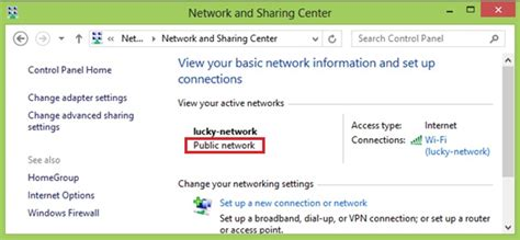 how to change network location type in windows 8