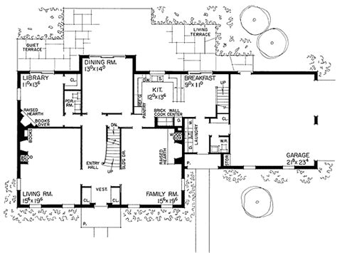 georgian floor plan georgian design with stately facade 0880w