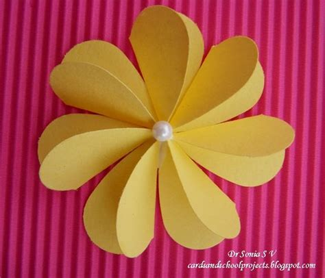 Paper Flowers For Cards - punch flower tutorial and kid projects on