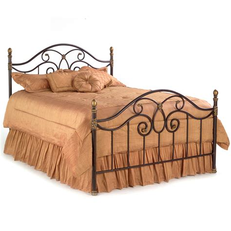 iron beds dynasty iron bed curving design autumn brown finish