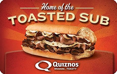 Quiznos Gift Card Balance - amazon com quiznos gift cards e mail delivery gift cards