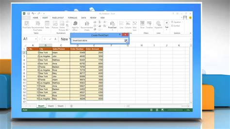 Create A Pivot Table In Excel 2013 by How To Create A Pivot Table Or Pivotchart Report In Excel