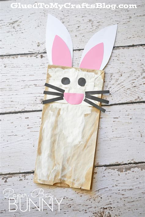 Paper Bag Bunny Craft - paper bag bunny kid craft