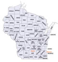 state of county map wisconsin county map