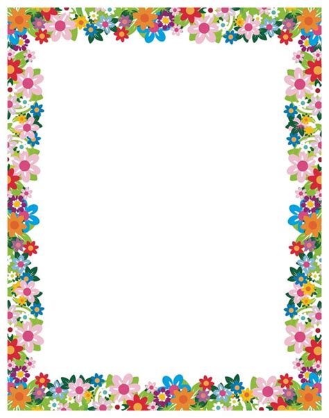 printable paper with flower border simple flower border designs for a4 paper cliparts co