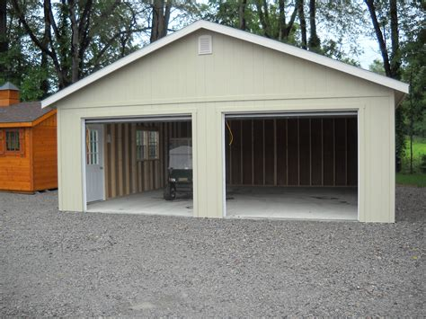 24 x24 two car garage custom built garages sales prices