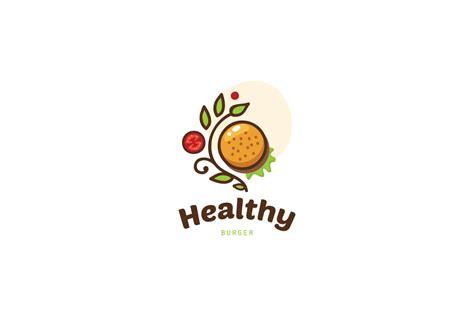 healthy burger logo food logo design logo cowboy