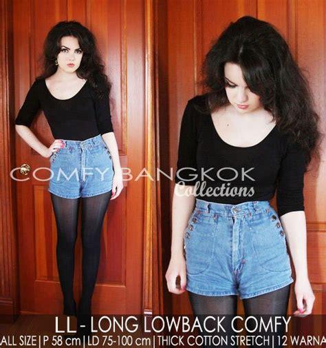 Exclusive Buy 1 Get 1 Treefi Top Atasan Baju Cantik Wanita Blouse atasan lengan panjang low back sleeve 12 warna cotton stretch