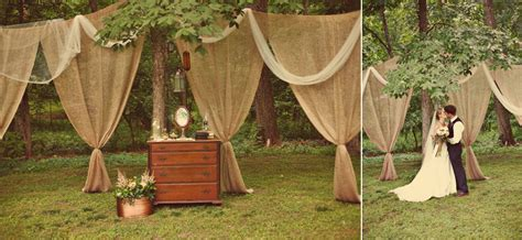 outdoor wedding draping romantic outdoor wedding burlap draping ceremony decor