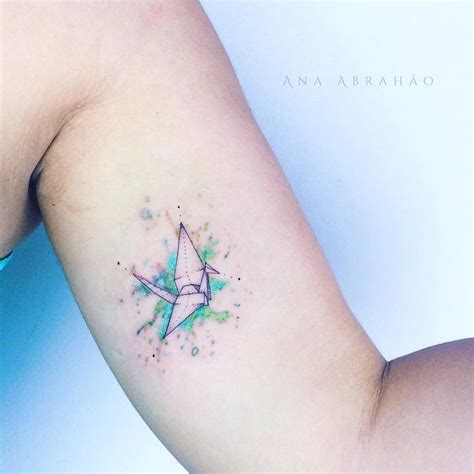 26 gorgeous paper crane tattoos and meanings tattoobloq