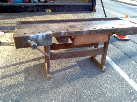 used bench vise craigslist 187 antique workbench for sale craigslistwoodplansdiy
