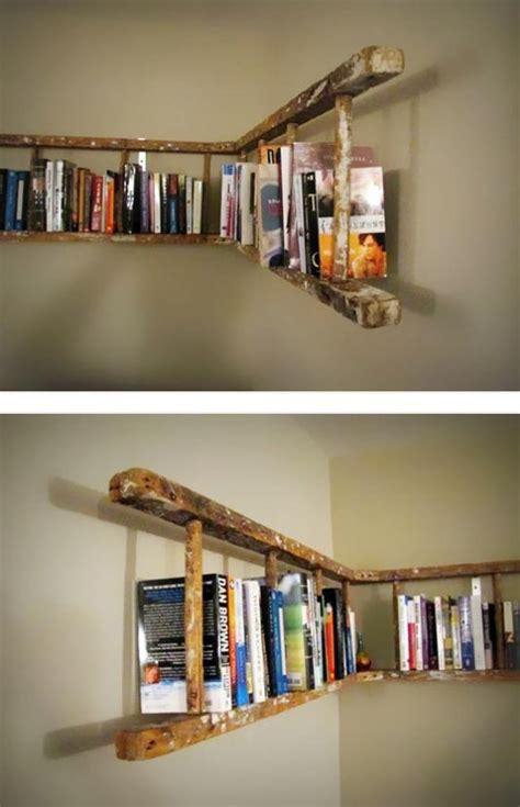 bookshelve ideas les meilleurs diy d 233 co avec une vieille 233 chelle