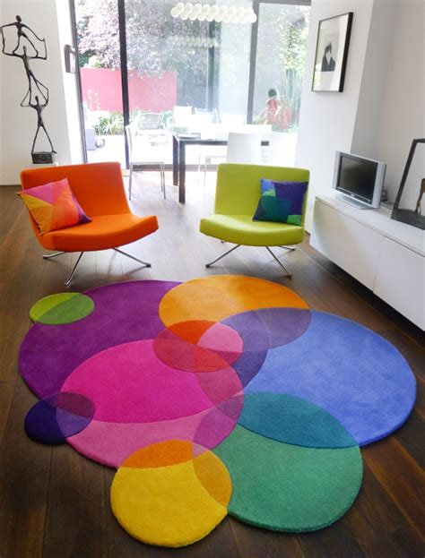 rainbow designs 20 colorful home decor ideas bubbles contemporary modern area rugs by sonya winner