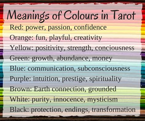 Meaning Of Gift Card - how to interpret the colours of the tarot