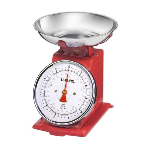 Home Kitchen Design Tool by Taylor Analog Kitchen Scale In Stainless Steel 371021