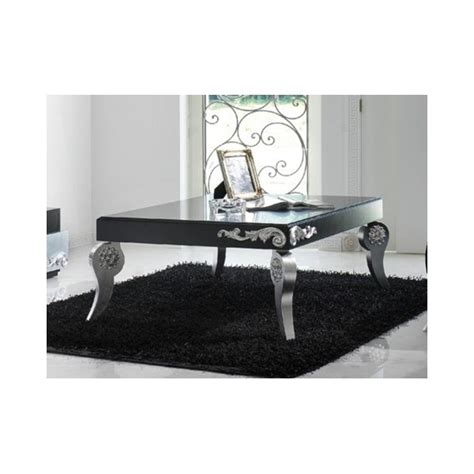 Black Silver Coffee Table Luxus Black And Silver Leaf Coffee Table