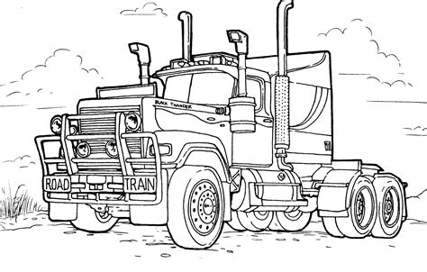 coloring pages cars mack coloring page large truck