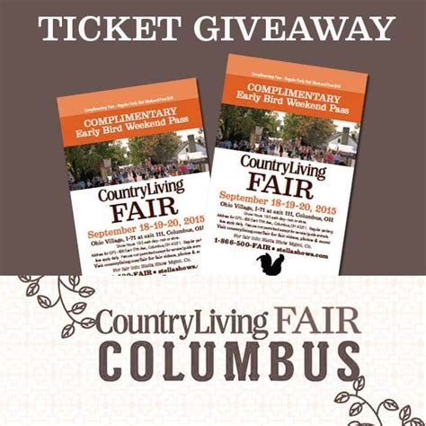 Ticket Giveaway Ideas - country living fair ticket giveaway house of hawthornes