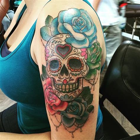 bed of roses tattoo 63 skull tattoos for the badass in you