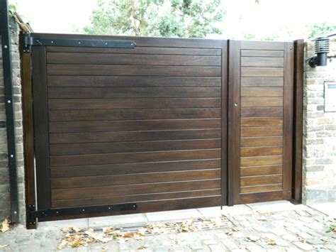Home Garage Design Ideas fully boarded gates hardwood gates wooden gates bespoke