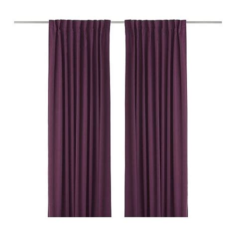 werna curtains ikea werna pair of curtains from ikea in dark lilac for our