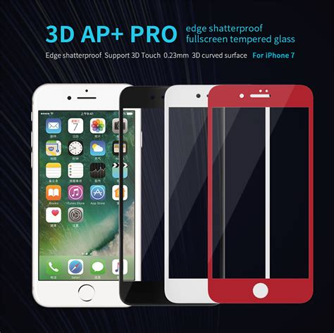 apple iphone 7 3d ap edge shatterproof coverage glass screen protector