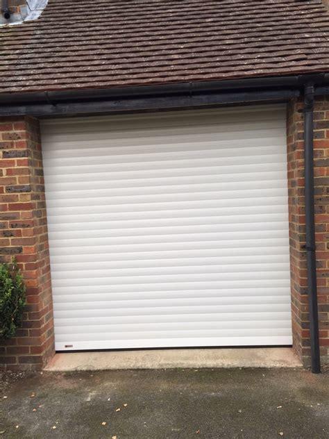 Roller Garage Doors Uk White Seceuroglide Roller Garage Door Fitted In Thame Shutter Spec Security