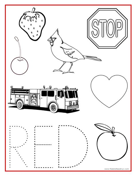 printable images red color activity sheet teaching preschool pinterest