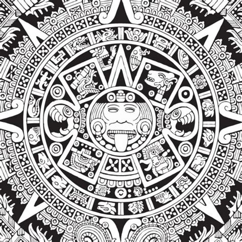 aztec calender coloring pages